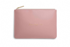 Katie Loxton LIVE LAUGH LOVE Perfect Pouch Clutch Bag - Pink